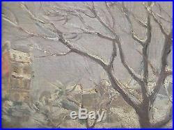 Rare tableau impressionniste signé Ernest MARGUINAUD, Montmartre, PARIS