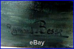 Raymond Besse huile sur toile Clamecy XXème Nièvre 58