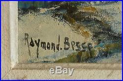 Raymond Besse huile sur toile St ouen sous la neige XXème