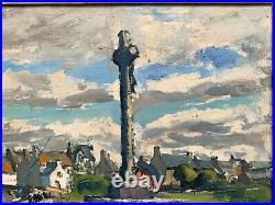 René LE FORESTIER (1903-1972) Saint-Cado, Morbihan, Bretagne, Huile sur toile