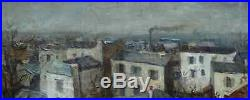 Roger Bertin 1915-2003. Grande & Magnifique Toile. Montmartre & Toits De Paris