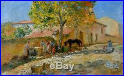 SEYSSAUD René (1867-1952) Lavandières à Ville sur Auzon Avignon Marseille