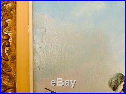 SUPERBE ORIENTALISTE, Huile sur toile Grand Format