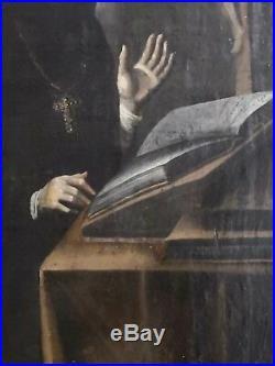 S. PROSPER AQUITANUS/huile sur TOILE marouflée sur panneau ancien/fin XVIII