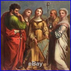 Sainte Cecile, tableau ancien