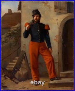 Sapeur Pompier Français vers 1870, Peintre à Identier, Top Qualité