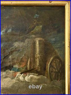Scène mythologique Psyché et l'Amour Huile sur toile Ecole Française du XVIIIeme
