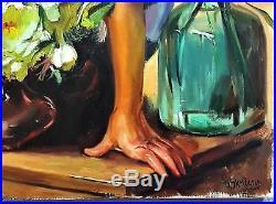 Skribins Tableau Peinture Huile Sur Toile 25m 81x54
