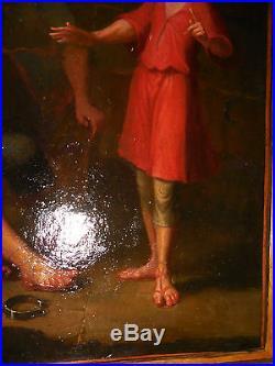 Splendide toile songe de jacob rare sujet fin XVIII /XIX ecole DAVID