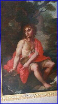 St Jean Baptiste à La Source, école Française Du XVII ème, Huile Sur Toile