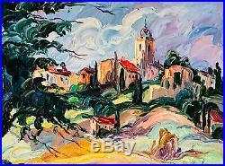 Superbe grande huile sur toile ALBERT VAGH WEINMANN (1931-1983)