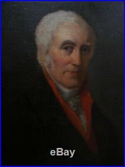 Superbe portrait d'homme époque Empire début du XIX e siècle