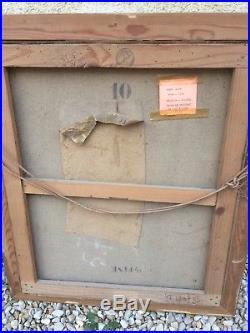 TABLEAU 65x55cm OFFICIER MEDECIN GUERRE 14/18 WW12 PEINTURE HUILE SUR TOILE hst