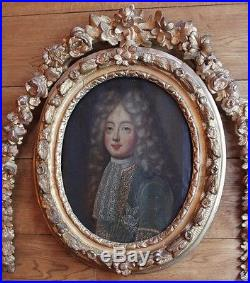 Tableau Ancien Portrait Du Dauphin De France Ordre Du Saint-esprit Cadre