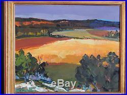 TABLEAU HUILE sur TOILE Champs de blé en hte Provence Signé B. PERINO 1925-1996