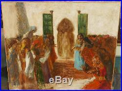 Tableau Ancien Huile Scène Orientaliste Maroc Tunisie Fin XIXe F. A. BRIDGMAN