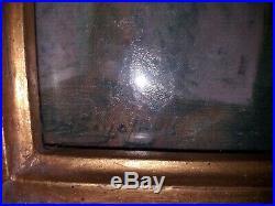 Tableau Ancien Huile sur Toile Danaé et la pluie d'Or Signé Delphin ENJOLRAS