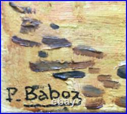 Tableau Bord de mer Breton école Nabis HST par Baboz