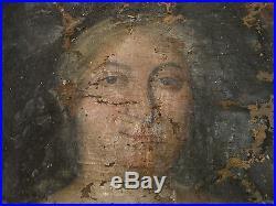 Tableau HST Portrait d'une noble Anonyme 17 eme A RESTAURER