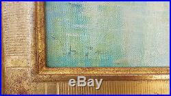 Tableau HUILE sur TOILE Signe debut XXe VENISE La SALUTE Basilique Oil Peinture