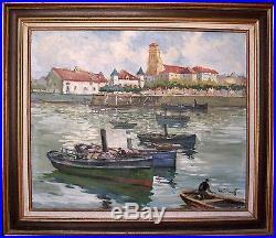 Tableau Henri-Alexis SCHAEFFER (1900-1975) Saint-Jean-de-Luz/ Pays Basque