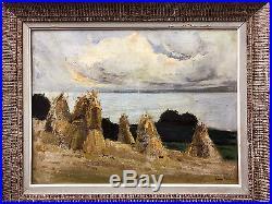 Tableau Huile Sur Toile Ajaccio Corse Lucien Peri 1880-1948