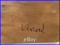 Tableau Louis EVRARD (1905-1989) Roulotte bohémiens art forain Dunkerque cirque