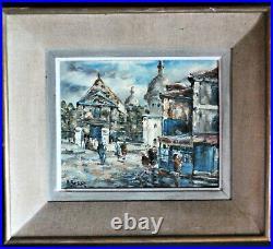 Tableau Montmartre Paris huile sur toile signée Raymond Besse