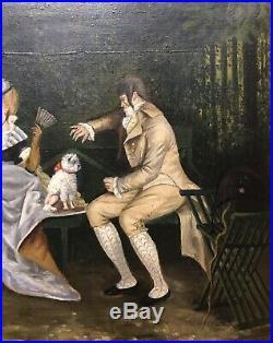 Tableau Peinture Cadre 19è XIXè Voirin Merveilleuses et Incroyables Rare Ancien