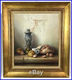 Tableau / Peinture / Huile Sur Toile Nature Morte Signée Robert Chailloux