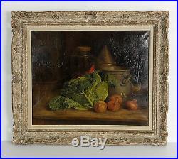 Tableau / Peinture / Huile Sur Toile Signée Eugène Thomas 1909 Nature Morte