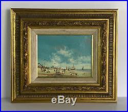 Tableau / Peinture / Huile Sur Toile Signée W. Pannier Au Bord De La Mer