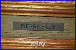Tableau Pierre BALDI (1919) Saint-Jean-de-Luz place Louis XIV Ecole Basque