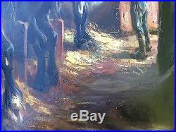 Tableau Raymond LECOURT (1882-1946) ecole Rouen Normandie Havre Chevaux Benezit