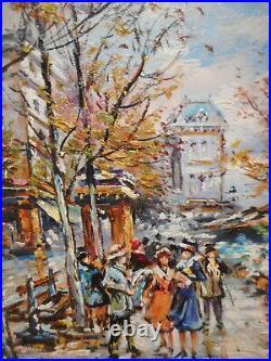 Tableau Wilma LUCAS peinture Paris marcher fleur La Madeleine gout Galien Laloue