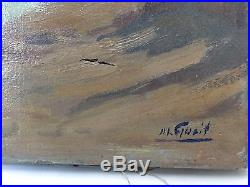 Huile sur toile blog archive tableau ancien huile sur for Toile bassin