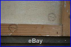 Tableau ancien Huile marine Port de Antibes Provence signé Paul Garin déb XXe