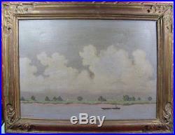 Tableau ancien, Louis CYLKOW (1877-1934), bord de Loire