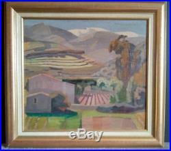 Tableau, ancien, Maurice Soudan, Collioure, Belge