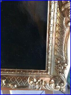 Tableau ancien Portrait Dun Gentilhomme De Style XVIIeme Anonyme 40x50 Cm Hc