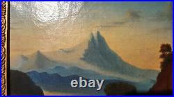 Tableau ancien huile sur toile