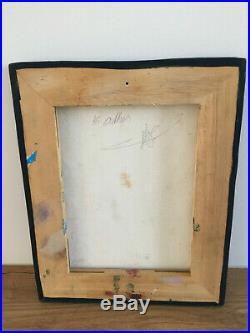 Tableau ancien huile sur toile Signée au dos à définir (XXe-s) nature morte