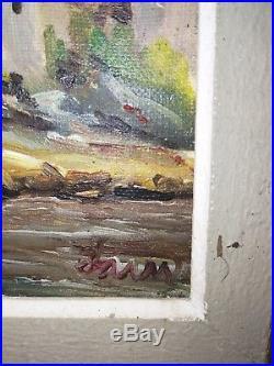 Tableau ancien huile sur toile marine signé