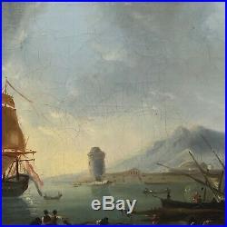 Tableau ancien, marine