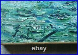 Tableau ancien marine Marseille corniche Kennedy, Vallon des Auffes, petit Nice