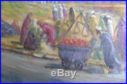 Tableau, ancien, orientalisme, Oudaia, Rabat, Maroc, Monvoisin