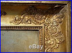 Tableau horloge huile/toile, XIXe, Giteau élève de Bréguet, oil painting clock