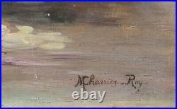 Tableau huile Nature Morte aux pivoines signé Marguerite Charrier Roy fin XIXème