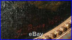 Tableau huile sur toile école française 19ème siècle picture 19th Century