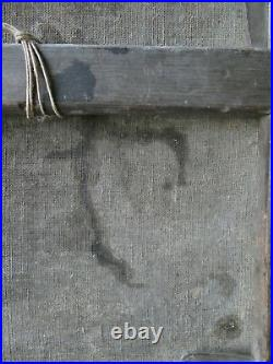 Tableau huile sur toile, jeune femme, enfant, Van Den Abeele, XIX Ecole Flamande